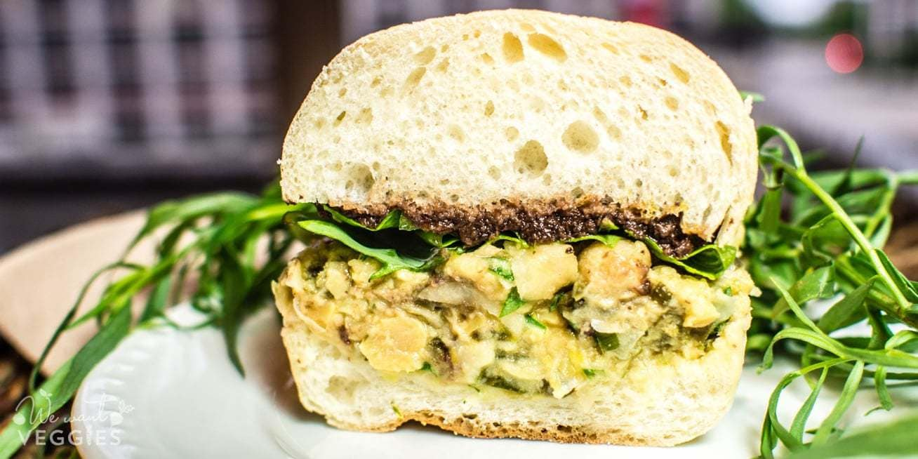 Chickpea Baguette With Lemon & Capers