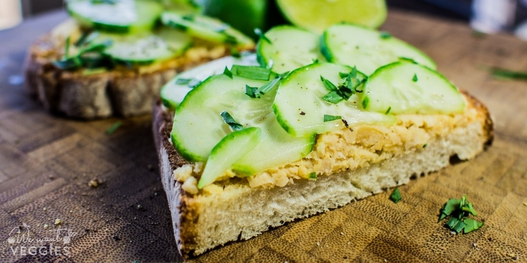 Cucumber Chickpea Tartine