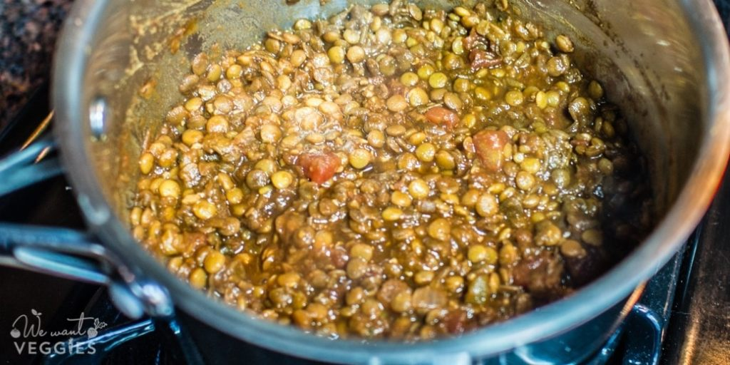 Lentils with salsa
