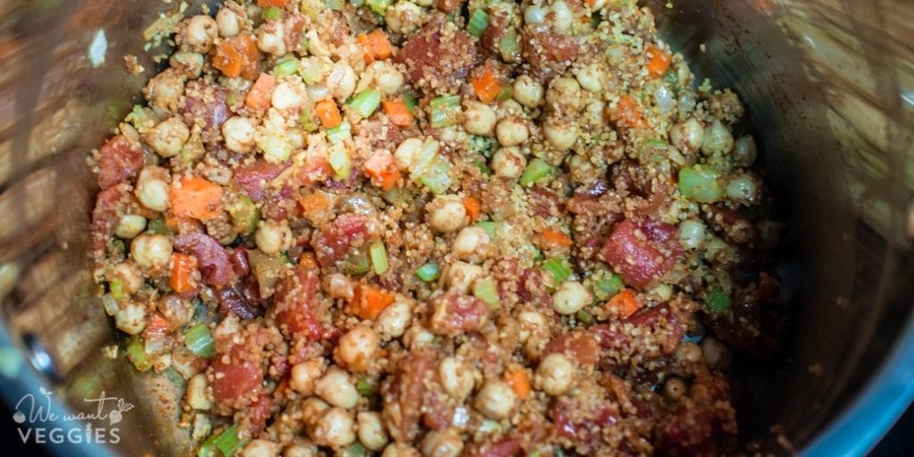 Mix in the bulgur.
