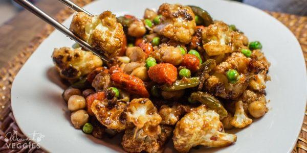 Sheet Pan Manchurian Vegetables