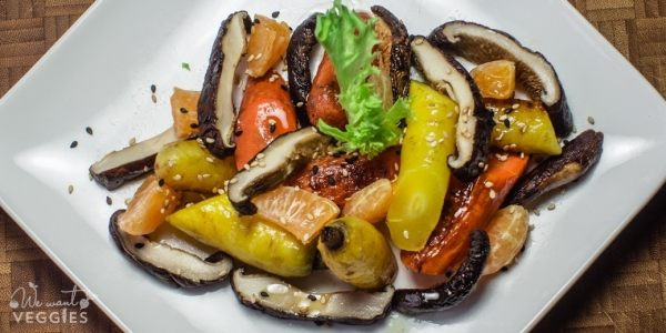 Roasted Carrots With Shiitake Mushrooms