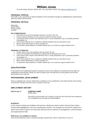 Free cv Templates - graduate cv Template download