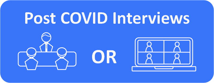 Which interview will be most used post COVID, Face to face or virtual interviews