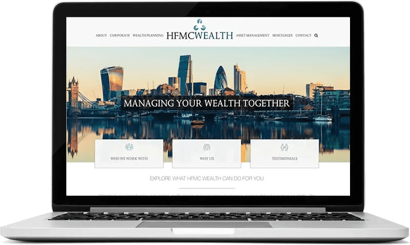 Website for Wealth Management Company