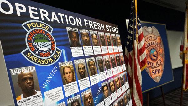 Operation 'Fresh Start' leads to 35 arrests in Sarasota