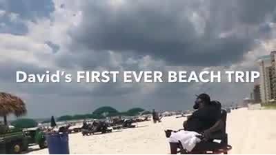 David's first trip to the beach