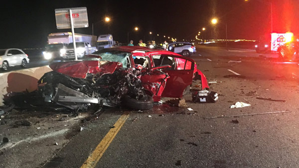 Fatal, wrong-way crash closes NB Howard Frankland Bridge for