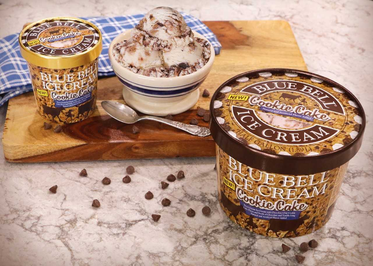 Blue Bell S Cookie Cake Ice Cream Is In Stores