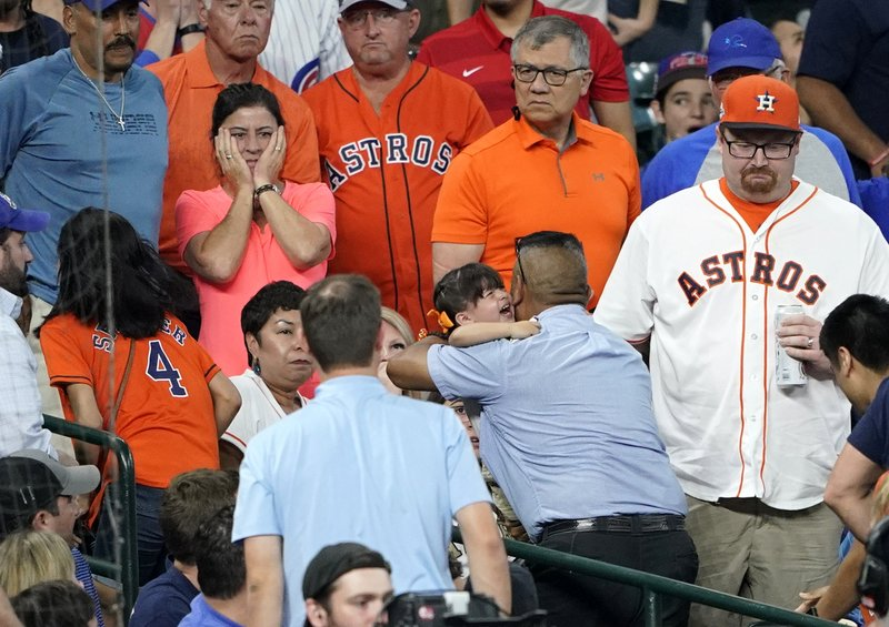 Young girl injured at Astros Game