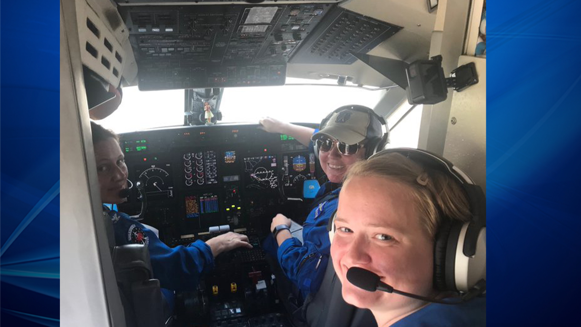 3 women make history as crew for NOAA plane ahead of