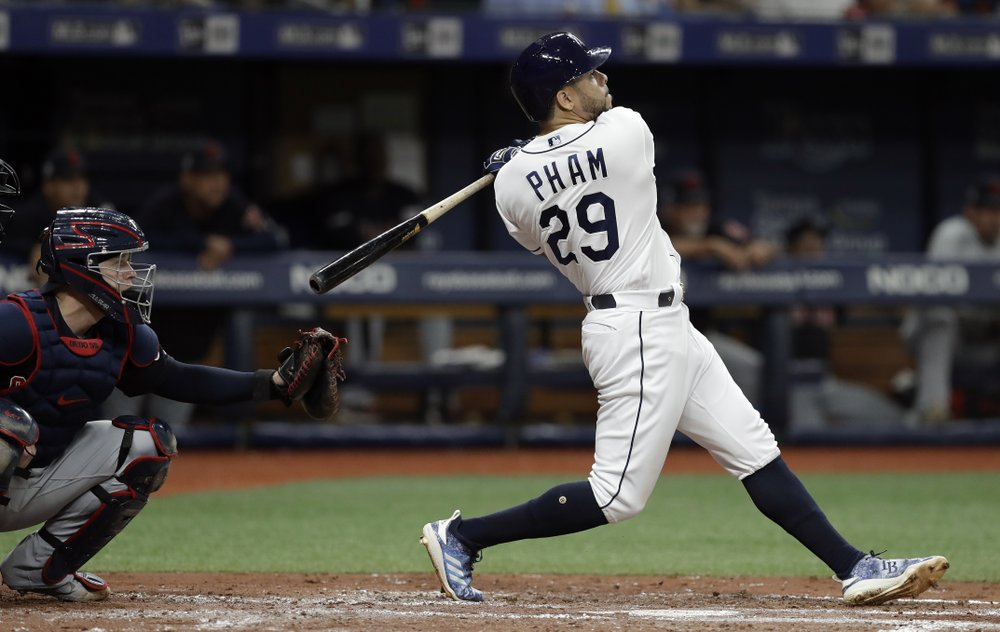 Rays Overpower Indians Try For Sweep Sunday In Key Series