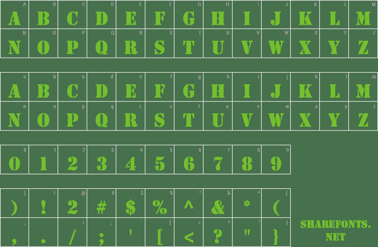 Download Free Font Stencil Std