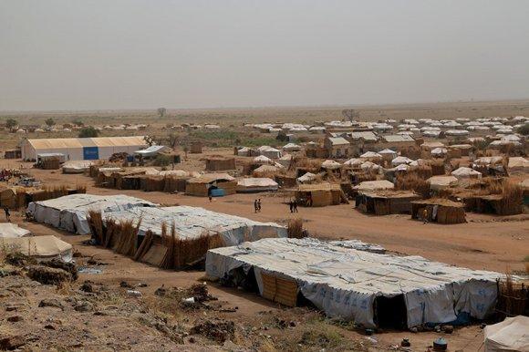 A general view of the Um Rakuba Refugee Camp in eastern Sudan