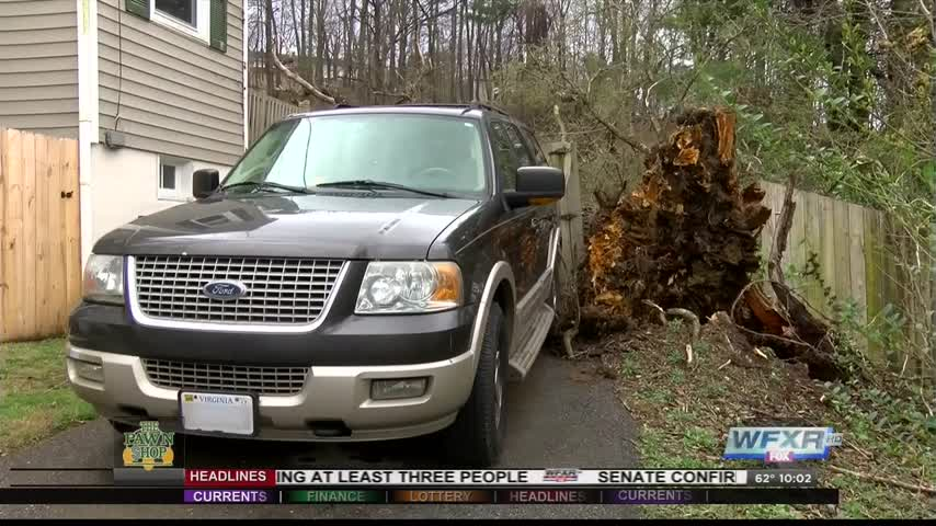 Tree falls in Roanoke County- narrowly missing car_43648153