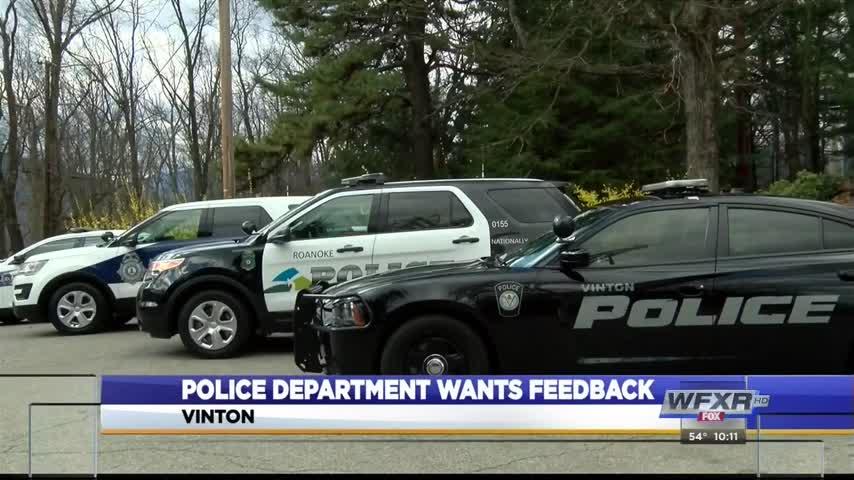 Vinton police survey