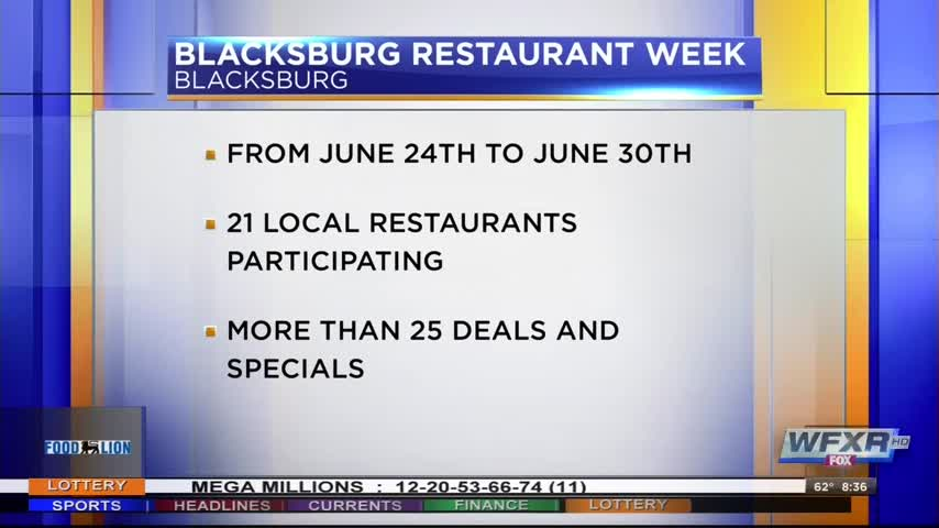 Blacksburg Restaurant Week continues till Friday_93644050