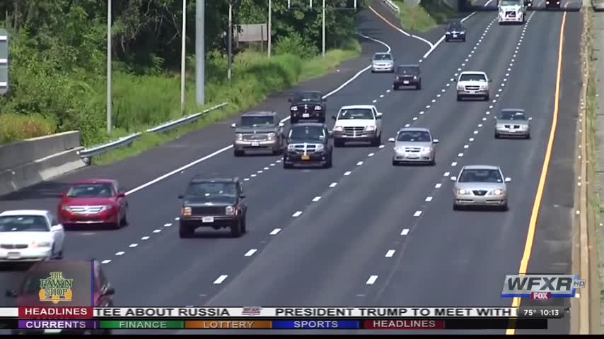 Slowing down in left lane could result in fine_80848915