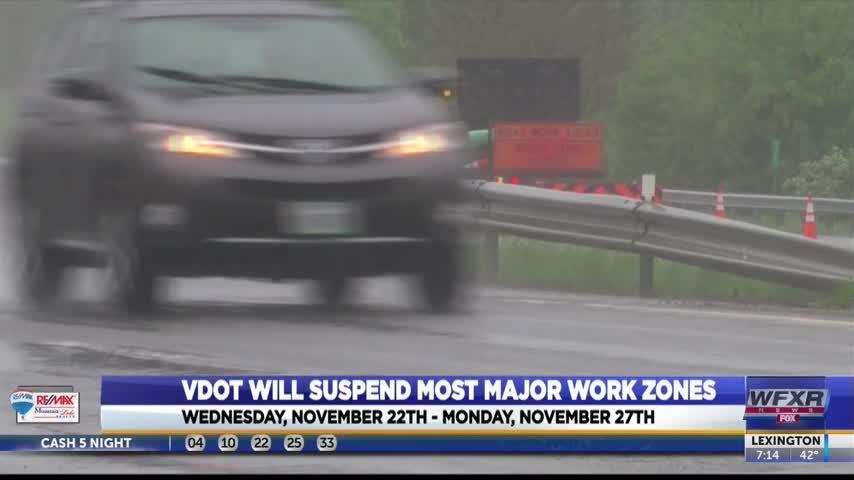 VDOT suspends most major work zones over Thanksgiving_25963102