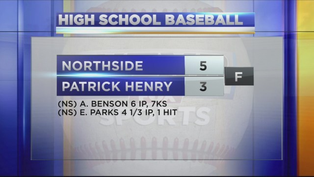 High School Baseball Northside vs Patrick Henry