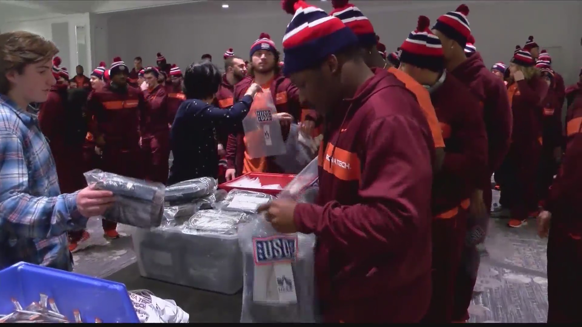 VT AND USO TEAM UP TO MAKE CARE PACKAGES