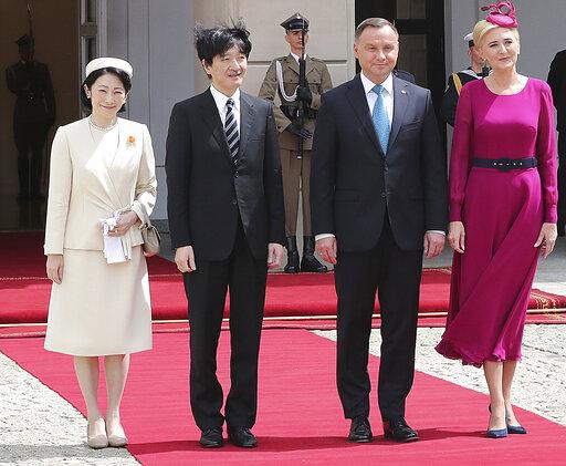 Andrzej Duda, Agata Kornhauser-Duda, Prince Akishino, Princess Kiko