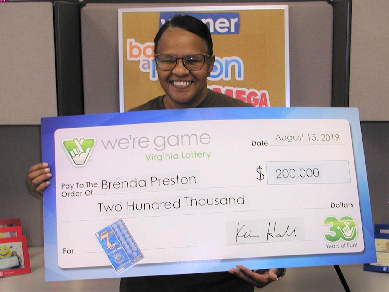 Danville woman wins $200K on a Virginia scratcher | WFXRtv com