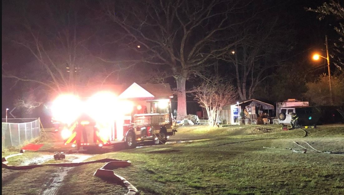 One firefighter was injured during a house fire in Salem on Saturday, Dec. 14. (Photo: Courtesy Salem Fire and EMS Department)