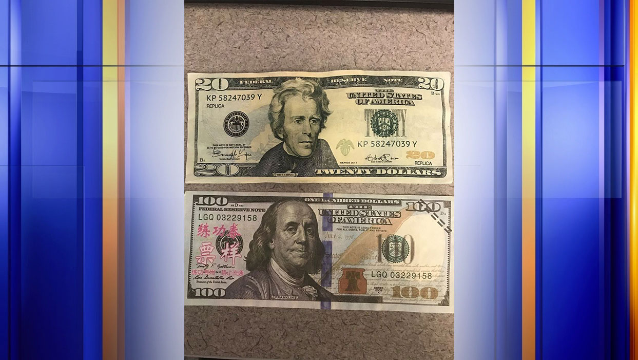 "Police say people have tried to pass off ""motion picture money"" at local businesses in Altavista. (Photo: Courtesy Altavista Police Department)"