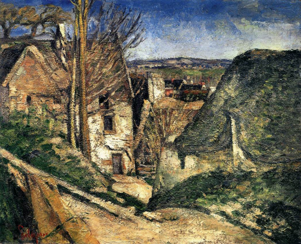 Resultado de imagem para Paul Cézanne. The Hanged Man's House. 1873. Oil on canvas. Musée d'Orsay, Paris, France.