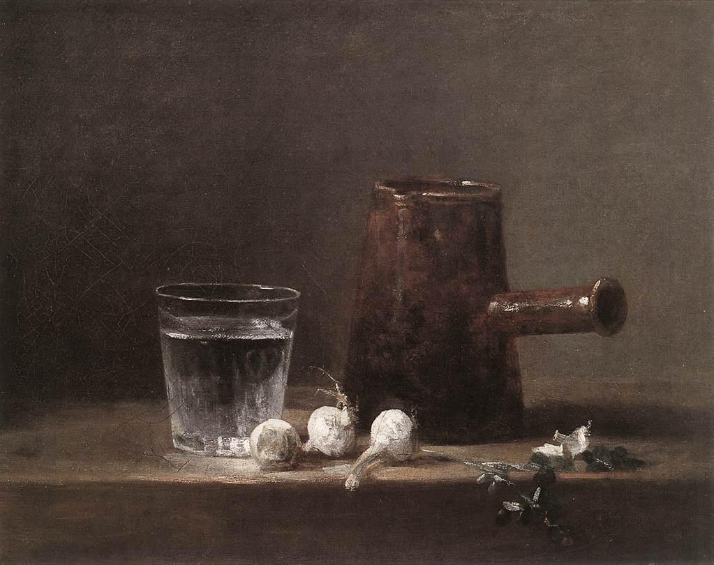 Water Glass and Jug, Chardin (c. 1760)