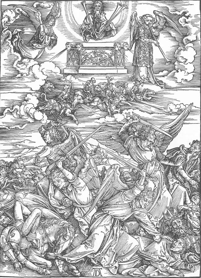 Albrecht Dürer The Battle of the Angels // Larry Hunt Bible Commentary