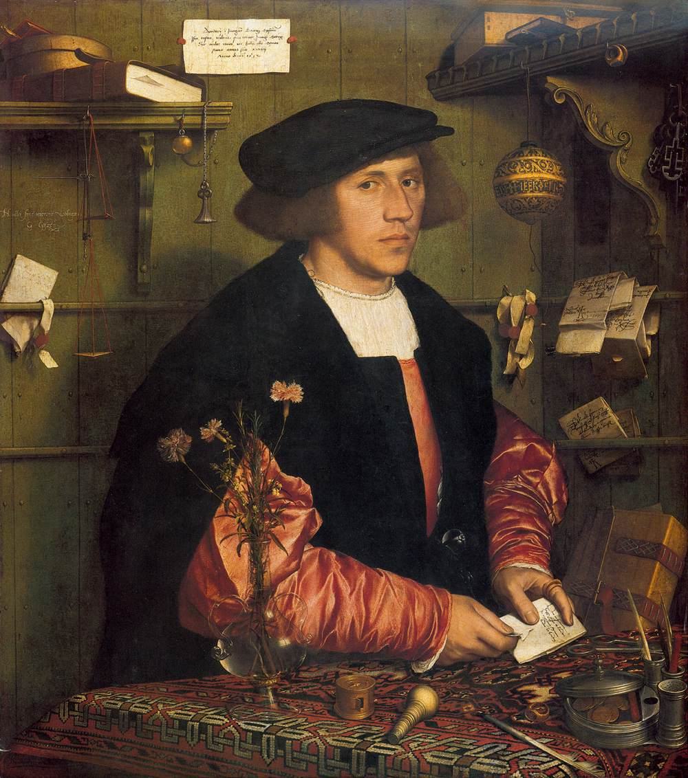 Hans HOLBEIN the Younger; Portrait of the Merchant Georg Gisze (1532)