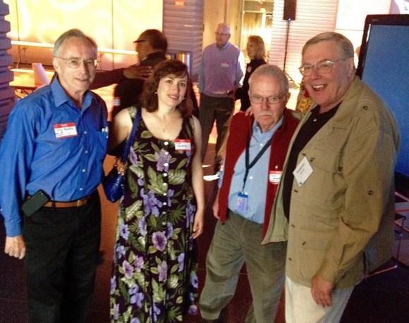9. Tony Saletan, Nina Saletan, Chas Norton, and Fred Barzyk