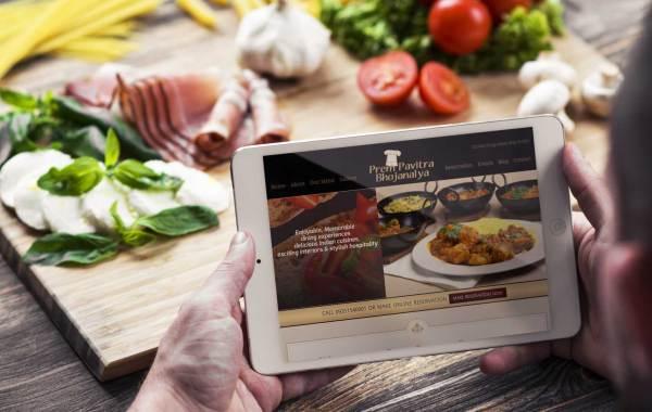 restaurant hotels website design