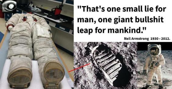 Resultado de imagem para neil armstrong and buzz aldrin moon fake