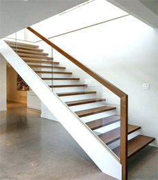 Interior Carbon Steel Structure Timber Solid Wood Treads Loft   Solid Wood Steps For Stairs   Staircase   Iron Rod   Oak Veneer   Rounded   Stained