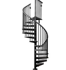 Outdoor Cast Iron Carbon Steel Spiral Staircase | Wrought Iron Spiral Staircase For Sale | Architectural Antiques | Stair Parts | Iron Balusters | Alibaba | Black Cast