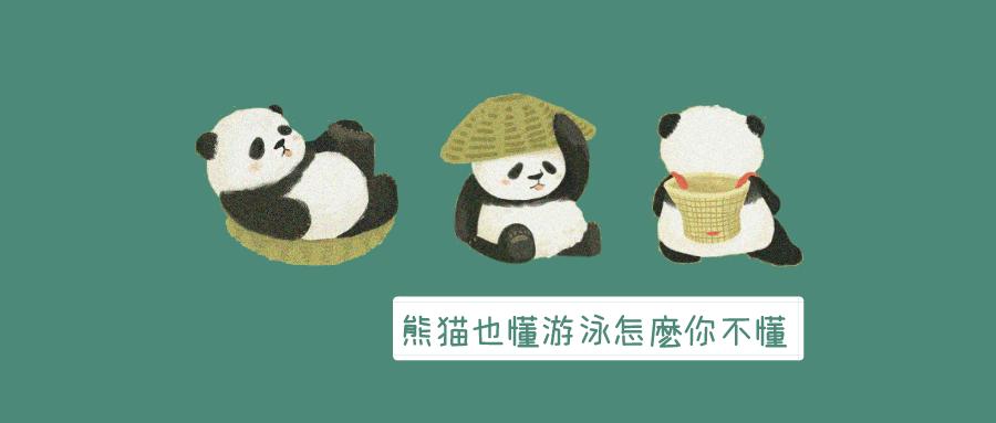 熊貓也會游泳 你怎麼會學不來
