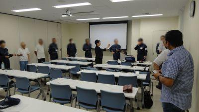 仙台で警備業の皆さんのビジネスマナーとクレーム応対研修の講師を務めました(宮城県仙台市)_fx_DSC00040