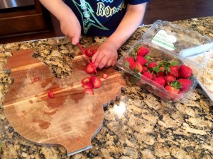 Strawberry cutting