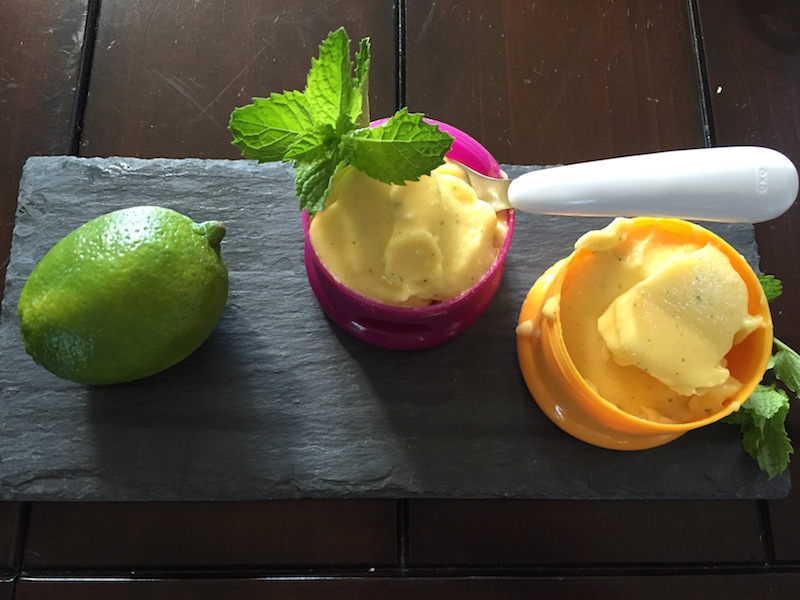 Mango Lime Sorbet Recipe and Video