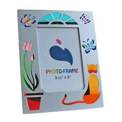Silhouette Photo Frame - Cat