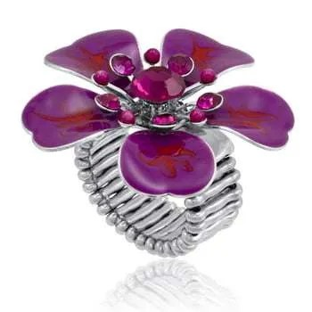 Purple Petals Ring by DaVinci