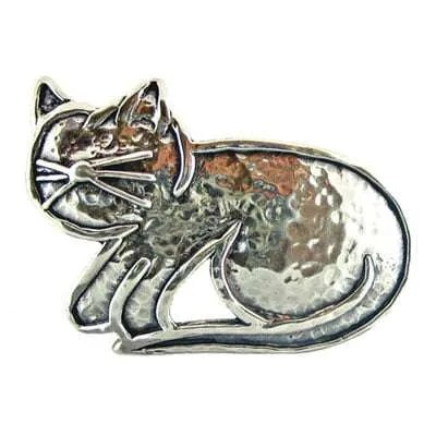 Sterling Silver Cat Brooch