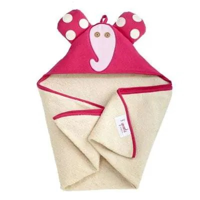 3 Sprout Pink Elephant Hooded Towel