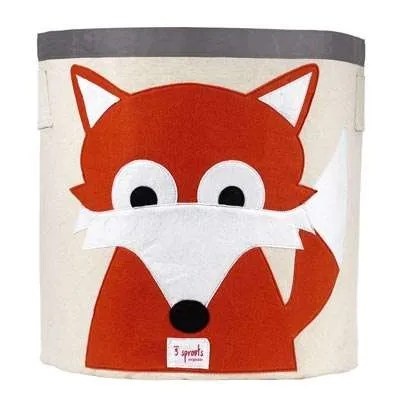 3 Sprouts Canvas Storage Bin - Fox