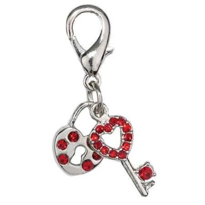 Heart and Key Charm - Pet Jewelry