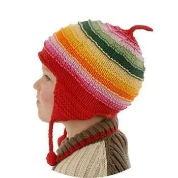 Twinklebelle Red Rainbow Li'l Ear Hats for Children