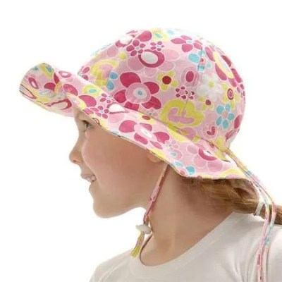 Twinklebelle Grow-With-Me Sun Hat - Pink Sweetheart